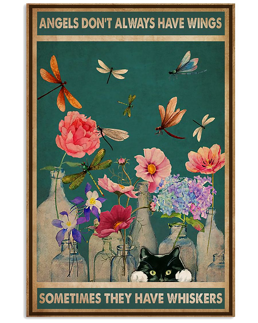 Cat Angels Don't Always Have Wings 16x24 Poster