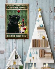 Cat A Woman Cannot Survive On Wine Alone 16x24 Poster lifestyle-holiday-poster-2