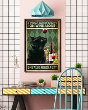 Cat A Woman Cannot Survive On Wine Alone 16x24 Poster lifestyle-poster-6