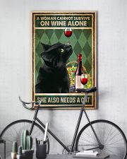 Cat A Woman Cannot Survive On Wine Alone 16x24 Poster lifestyle-poster-7