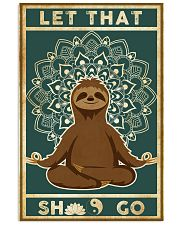 Yoga Let That's Go Sloth 11x17 Poster front