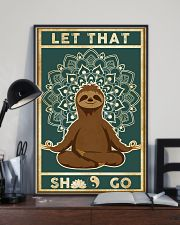 Yoga Let That's Go Sloth 11x17 Poster lifestyle-poster-2