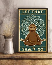 Yoga Let That's Go Sloth 11x17 Poster lifestyle-poster-3