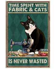 Sewing Time Spent With Cats Poster 11x17 Poster front