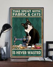 Sewing Time Spent With Cats Poster 11x17 Poster lifestyle-poster-2