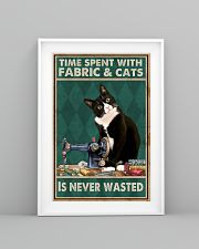 Sewing Time Spent With Cats Poster 11x17 Poster lifestyle-poster-5