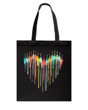 Guitar Colorful Heart Tote Bag tile
