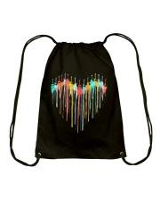 Guitar Colorful Heart Drawstring Bag tile