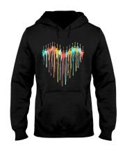 Guitar Colorful Heart Hooded Sweatshirt tile