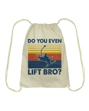 Skiing Do You Even Lift Bro Drawstring Bag tile