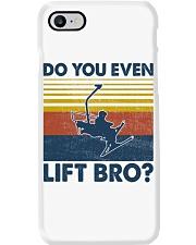Skiing Do You Even Lift Bro Phone Case tile
