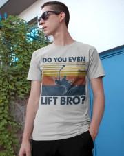 Skiing Do You Even Lift Bro Classic T-Shirt apparel-classic-tshirt-lifestyle-17