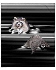 Raccoon Inside Blanket Fleece Blanket tile