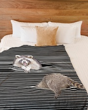 """Raccoon Inside Blanket Large Fleece Blanket - 60"""" x 80"""" aos-coral-fleece-blanket-60x80-lifestyle-front-02"""
