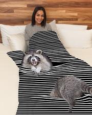 """Raccoon Inside Blanket Large Fleece Blanket - 60"""" x 80"""" aos-coral-fleece-blanket-60x80-lifestyle-front-05"""