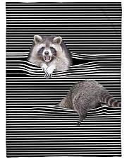 "Raccoon Inside Blanket Large Fleece Blanket - 60"" x 80"" front"
