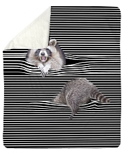 """Raccoon Inside Blanket Sherpa Fleece Blanket - 50"""" x 60"""" thumbnail"""