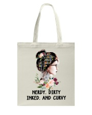 Books Nerdy Dirty Inked And Curvy Tote Bag tile