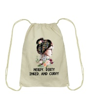 Books Nerdy Dirty Inked And Curvy Drawstring Bag tile