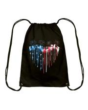 Garden Heart Flag Drawstring Bag tile