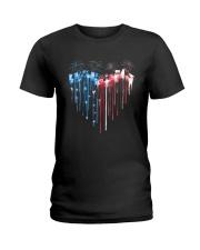 Garden Heart Flag Ladies T-Shirt tile