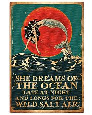 Mermaid She Dreams Of The Ocean Poster 11x17 Poster front