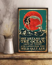 Mermaid She Dreams Of The Ocean Poster 11x17 Poster lifestyle-poster-3