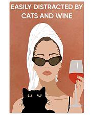 Easily Distracted By Cats And Wine 16x24 Poster front