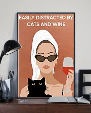 Easily Distracted By Cats And Wine 16x24 Poster lifestyle-poster-2