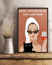 Easily Distracted By Cats And Wine 16x24 Poster lifestyle-poster-3
