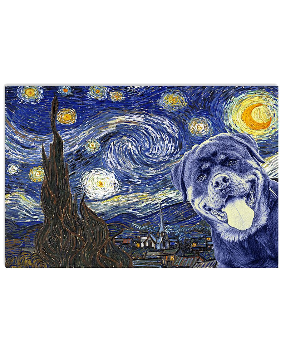 Rottweiler Van Gogh Style Poster 17x11 Poster