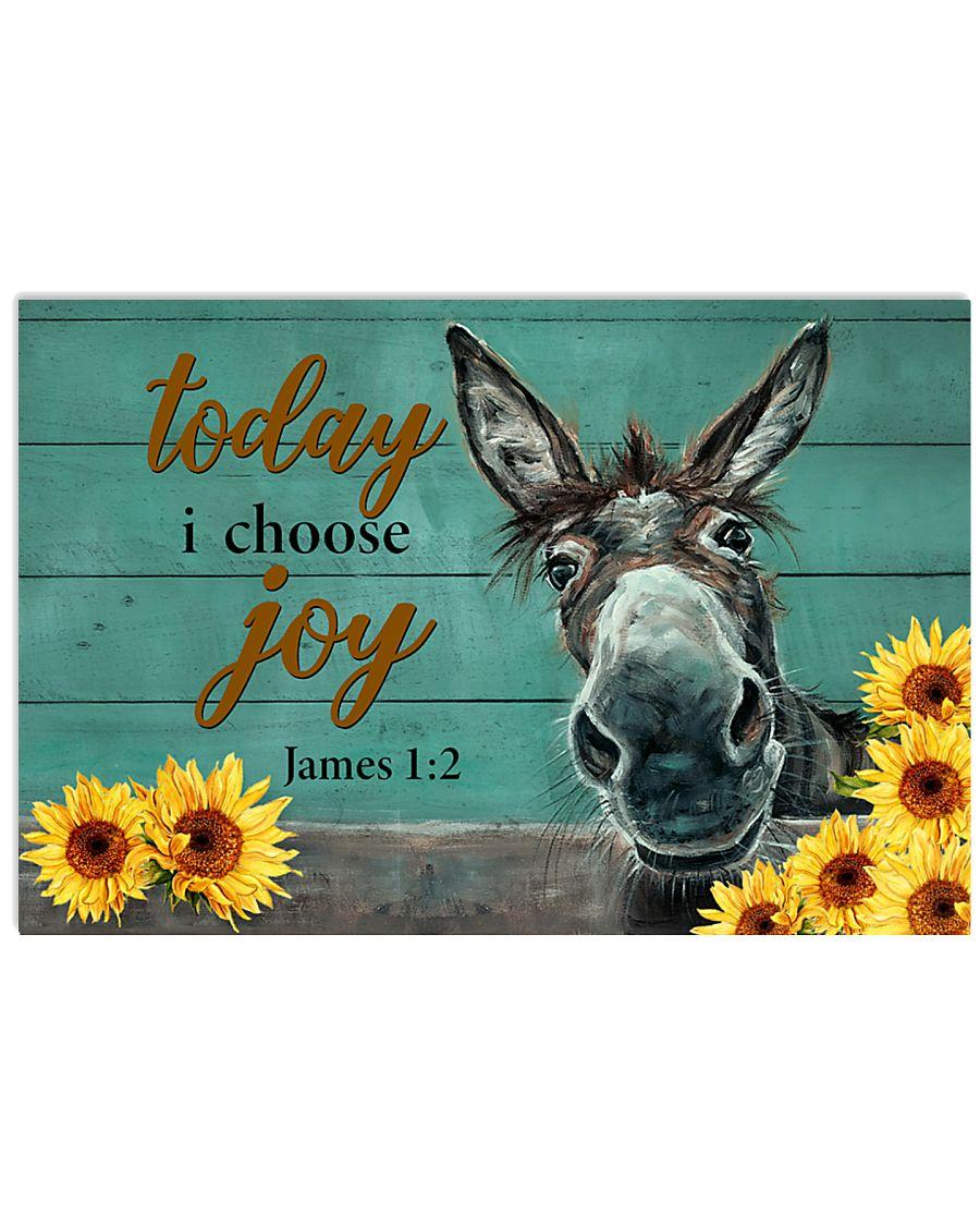 Donkey Today I Choose Joy 17x11 Poster