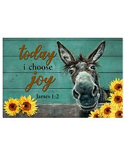 Donkey Today I Choose Joy 17x11 Poster front