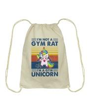 Gym Fitness I'm A Gym Unicorn Drawstring Bag tile