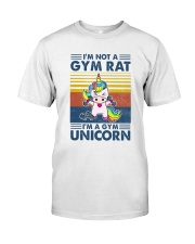 Gym Fitness I'm A Gym Unicorn Classic T-Shirt front