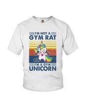 Gym Fitness I'm A Gym Unicorn Youth T-Shirt tile
