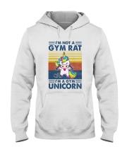 Gym Fitness I'm A Gym Unicorn Hooded Sweatshirt tile