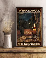 Book I'm Bookaholic And I Regret Nothing Poster 16x24 Poster lifestyle-poster-3