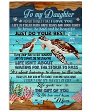 Turtle To My Daughter 11x17 Poster front