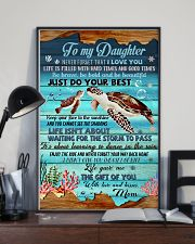 Turtle To My Daughter 11x17 Poster lifestyle-poster-2