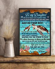 Turtle To My Daughter 11x17 Poster lifestyle-poster-3