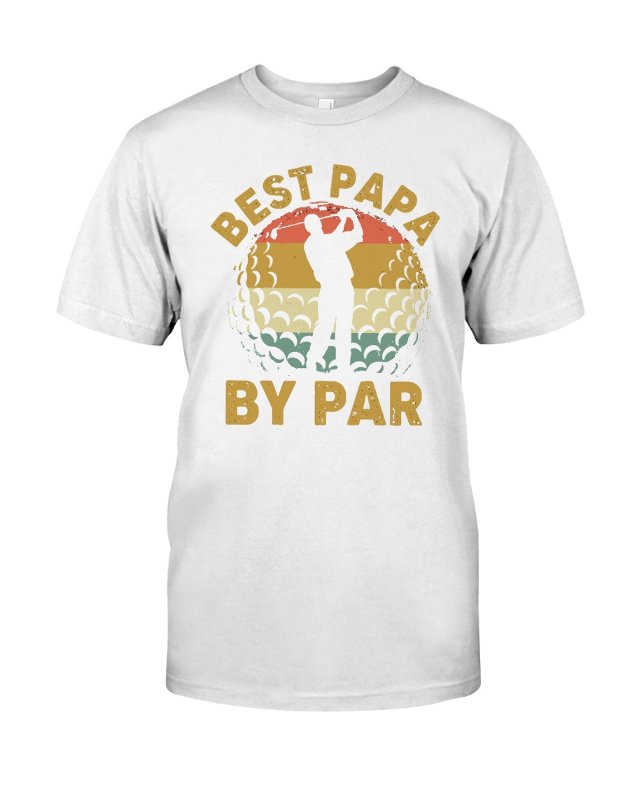 Best Papa By Par - Happy Father's day Premium Fit Mens Tee