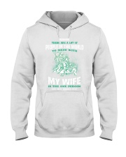 mess with me i will fight back mess with my gran d Hooded Sweatshirt tile