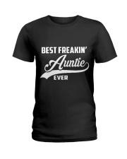 Best Freakin Auntie Ever Ladies T-Shirt thumbnail