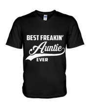 Best Freakin Auntie Ever V-Neck T-Shirt thumbnail