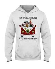On A Dark Desert Highway Cat Hooded Sweatshirt thumbnail