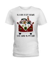 On A Dark Desert Highway Cat Ladies T-Shirt thumbnail