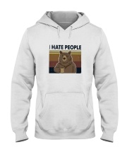 I Hate People Bear Hooded Sweatshirt thumbnail