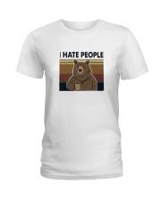 I Hate People Bear Ladies T-Shirt thumbnail
