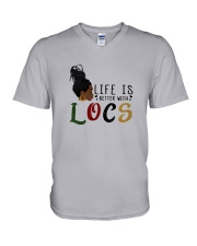 Life Is Better With Locs V-Neck T-Shirt thumbnail